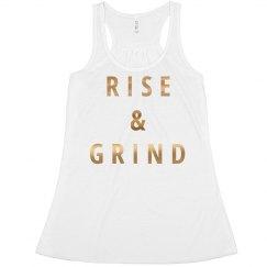 Rise & Grind Metallic Quote
