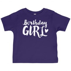 birthday girl toddler tee