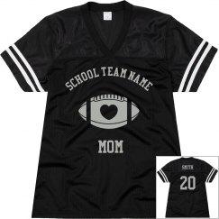 Custome football jerseys for mom