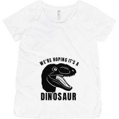 Dino Baby Maternity Shirt