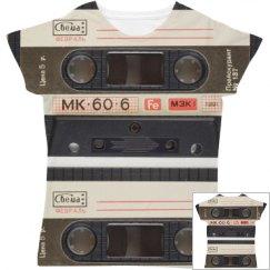 Trendy Cassette Tape All Over Print
