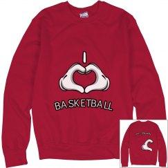 valentines day/ basketbal