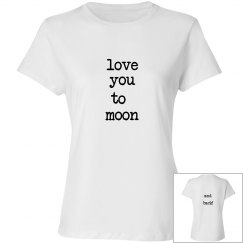 Love moon front back