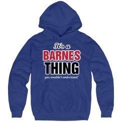 It's a Barnes thing