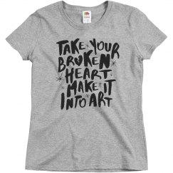 Grey Broken Heart Into Art