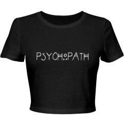 Psychopath black crop top