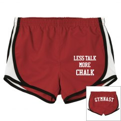 Funny Less Talk More Chalk Gymnast