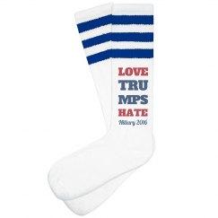 Love Trumps Hate Hillary Socks