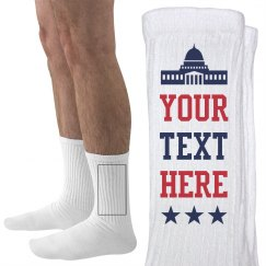 Custom Text Political Socks