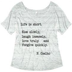 Life is short, typewrite