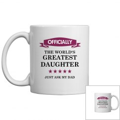 World's greatest Daughter mug