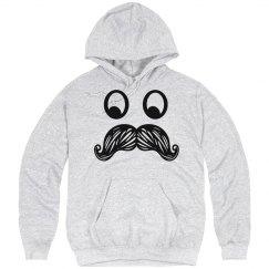 Mustache Hoodie