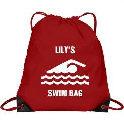 Lily's swim bag