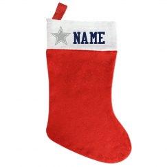 Custom Name Stocking Cowboy's Star