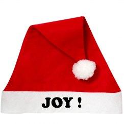 Joy Santa Hat