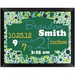 Baby Stats Plaque