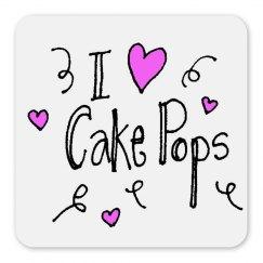 i love cake pops magnet