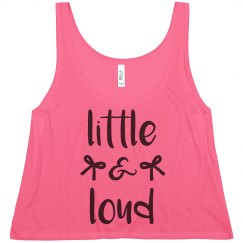 Little And Loud Cheer Tank Top