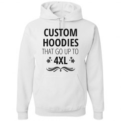 Custom Plus Size 4XL Hoodies