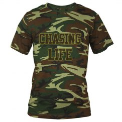 "Camouflage ""CHASING LIFE"" men's t-shirt"