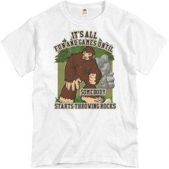 Bigfoot: Throwing Rocks Tee