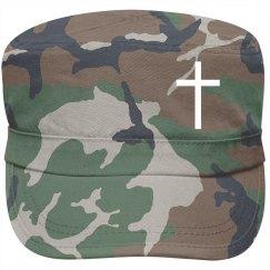 Olive cross hat