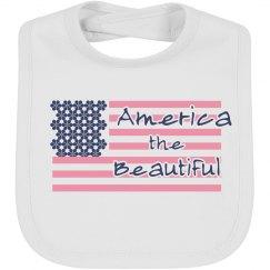 America the Beautiful baby bib