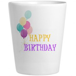 Colorful Birthday Shots Glass
