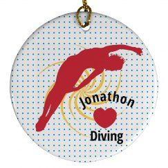 Diving Christmas Ornament