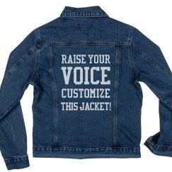 Raise Your Voice Custom Text