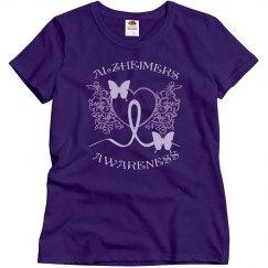 Alzheimers Awareness Purple Tee