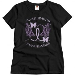 Alzheimers Awareness Black Tee