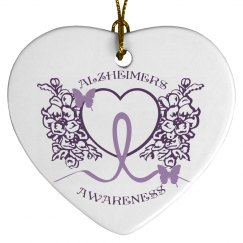Alzheimers Awareness Ornament 2