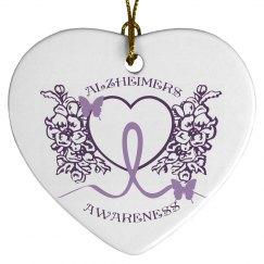 Alzheimers Awareness Ornament 2