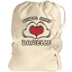 School Cheerleading Laundry Bag With Custom Names