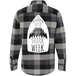 Shark Week Flannel