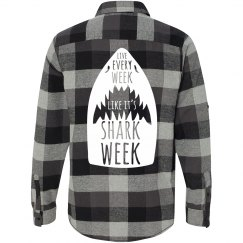 Shark Week Flannel