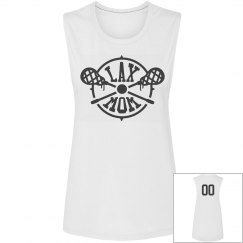 Cute Custom Number Lax Mom Tank