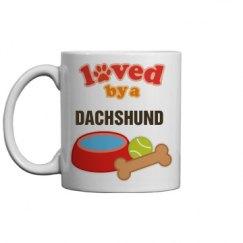 Loved By A Dachshund Gift Mug