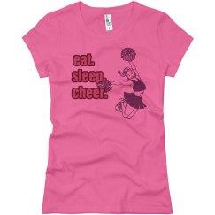 Eat Sleep Cheer Pink