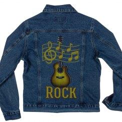 Gold & Brown Rock Guitar