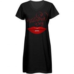 Valentine's Day Glossy Red Lips