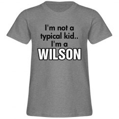 I'm a Wilson!