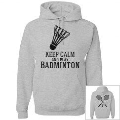 keep calm-play badminton