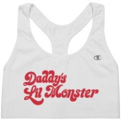 Daddy's Lil Monster Sports Bra
