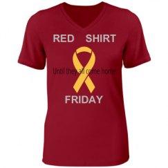 Red Shirt Friday w/ribbon