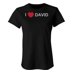 I Love David Rhinestones