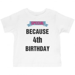 Special because birthday