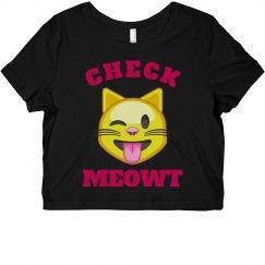 Check Meowt Emoji Cat