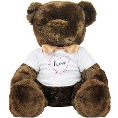 iLove Plush Teddy Bear